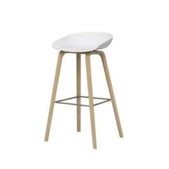 Cosy 0003 about a stool blanc bois