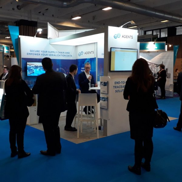 Adents sur le salon pharmapack 2019. réalisation wedia by media product
